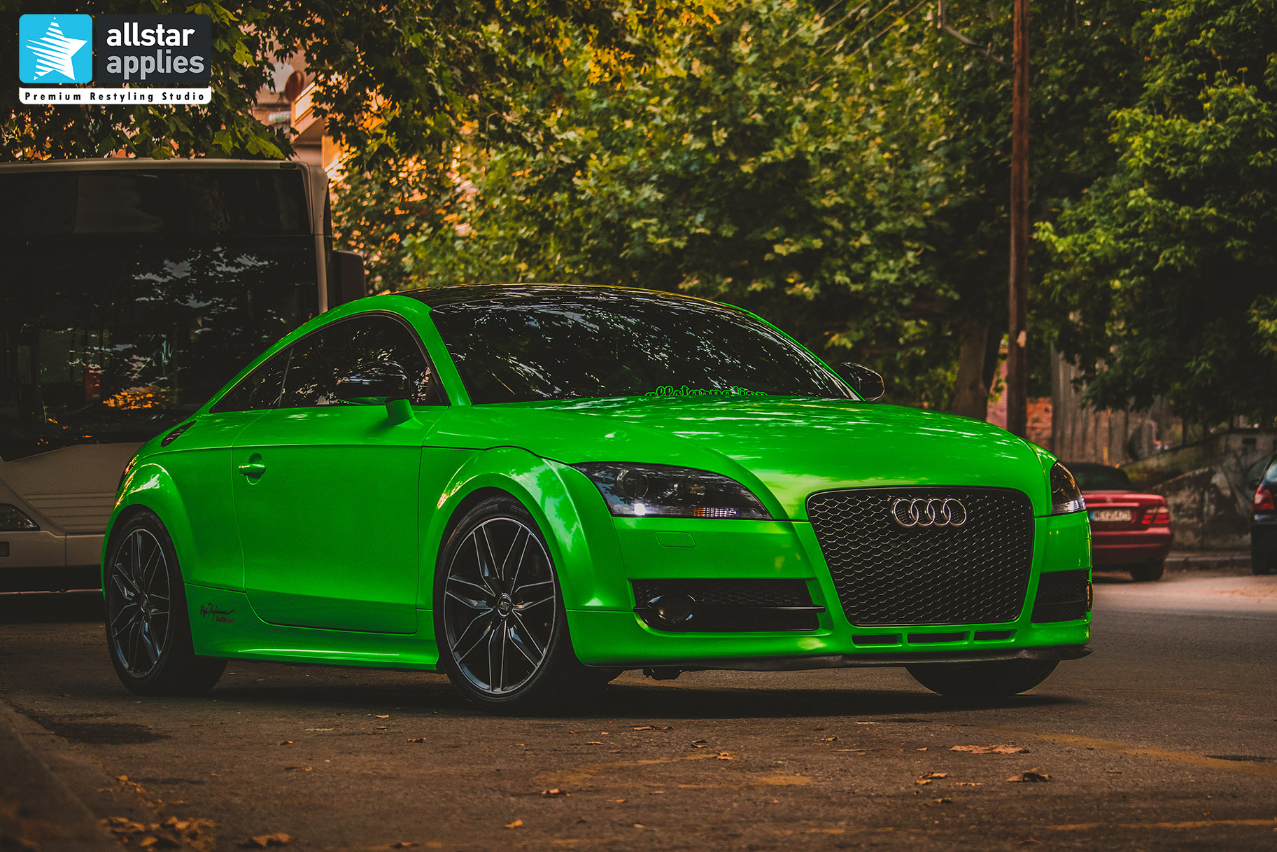 GYMKHANA GREEN AUDI TT ALLSTAR APPLIES 1