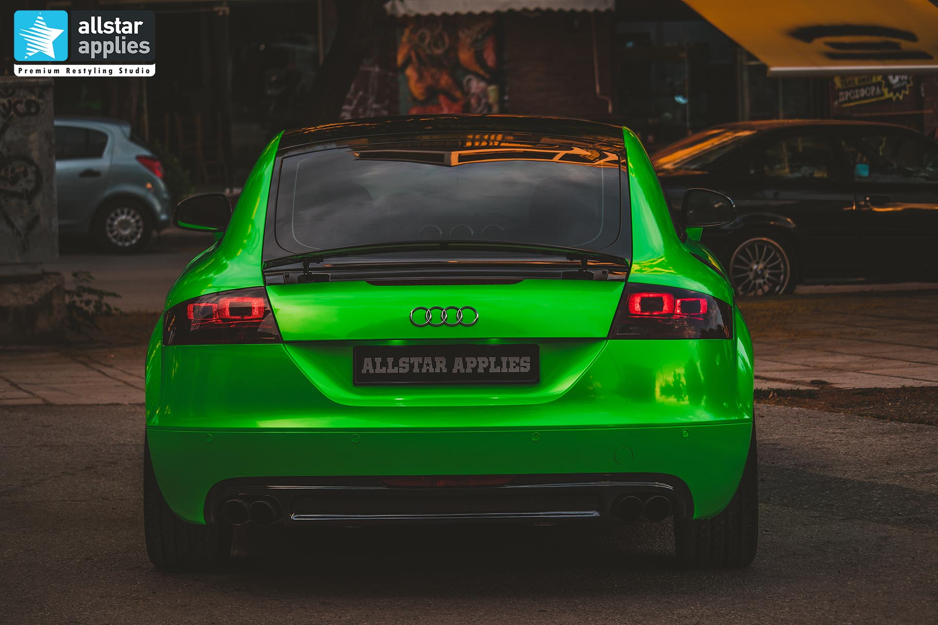 GYMKHANA GREEN AUDI TT ALLSTAR APPLIES 7