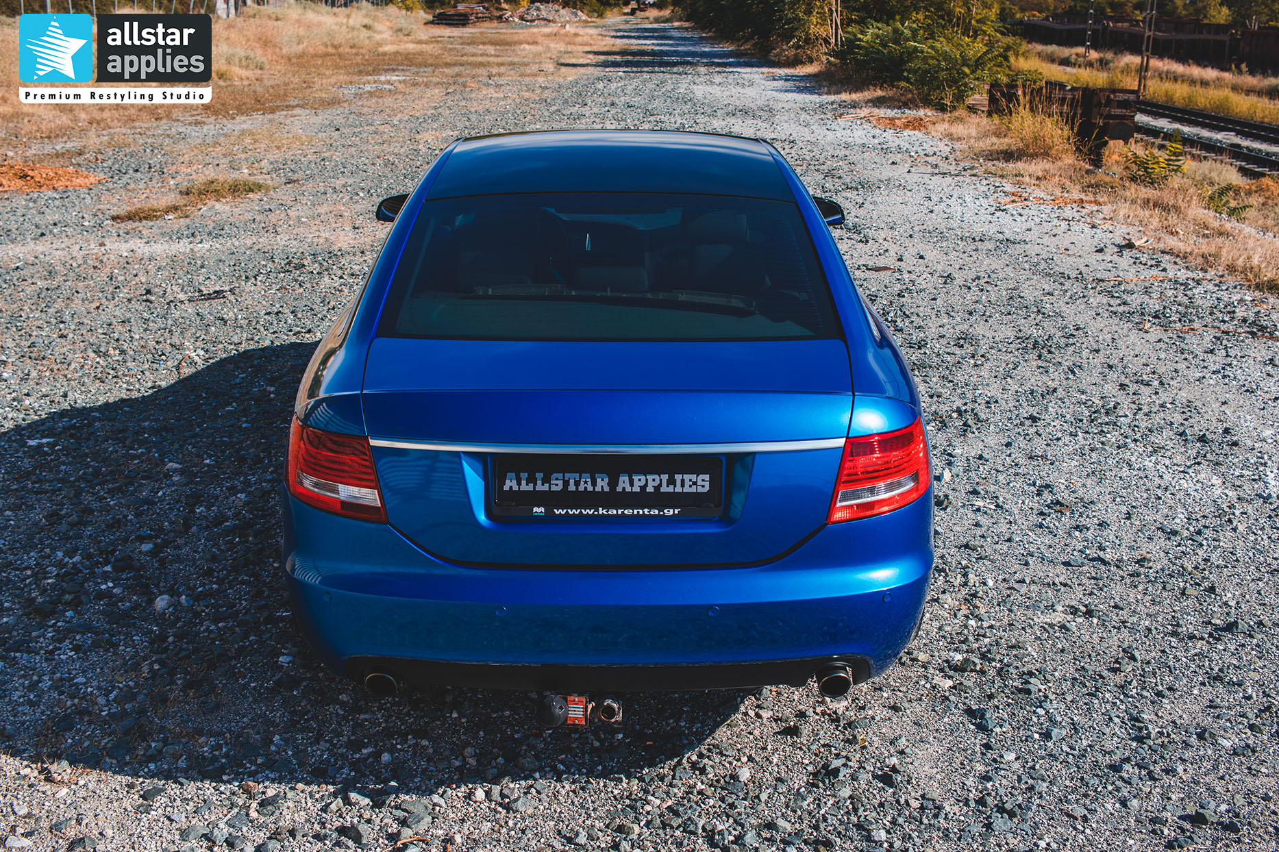 audi a6 allstar applies blue metallic 17